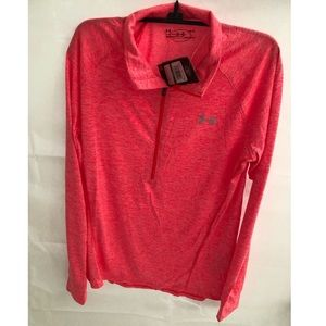 UNDER ARMOUR 1/4 zip long sleeve top size L NWT